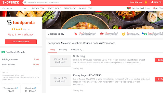 cashback, online shopping