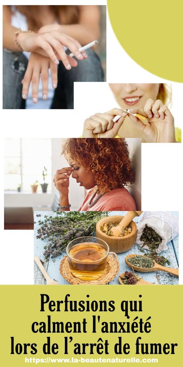 Perfusions qui calment l'anxiété lors de l'arrêt de fumer