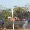 Anggota Polsek Marbo, Cepat Dan Tepat Datang di Lokasi Kebakaran