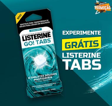 Experimente Grátis o Enxaguante Bucal em Tablete Listerie - Go! Tabs