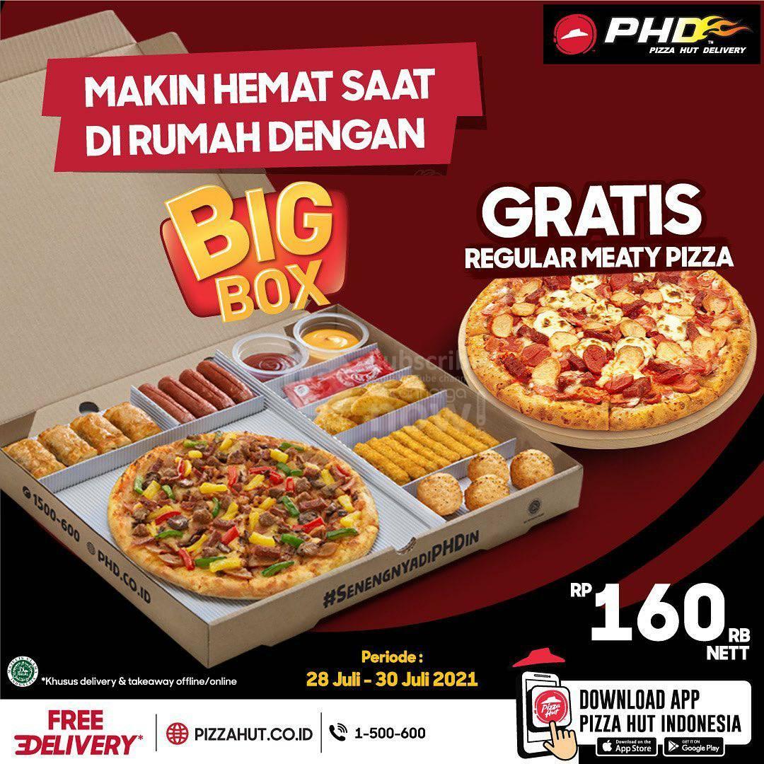 Promo PHD Beli Big Box Gratis 1 Meaty Pizza