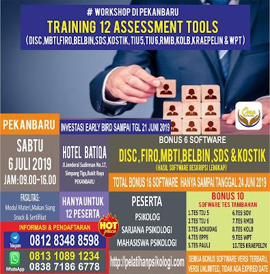 Workshop Psikologi Pekanbaru | Pelatihan Alat Tes Psikologi 2019 | WA: 0838-7186-6778
