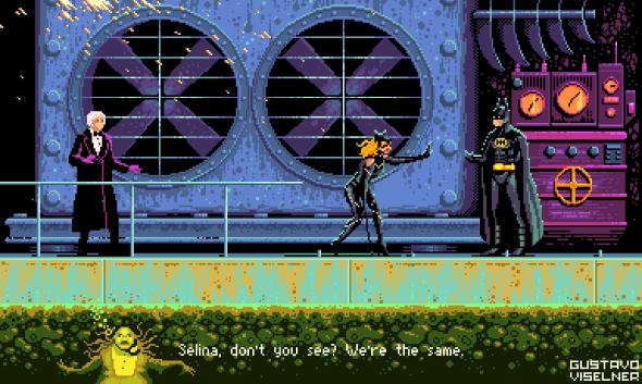 Gustavo Viselner ilustrações pixel art filmes tv referências Batman: O Retorno (Batman Returns)
