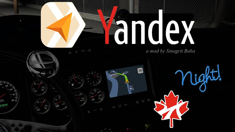 cover ats yandex navigator night version for promods canada