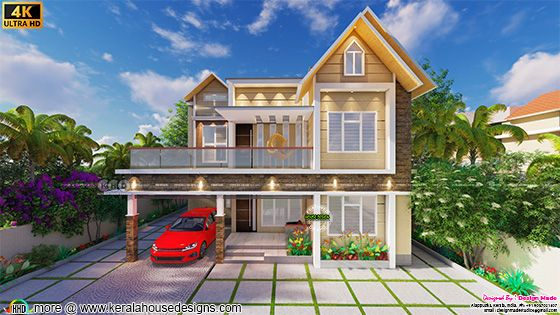 Mixed roof house by Design Made Architectural Studio