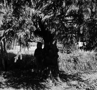 petite fille dans la lumière de l'ombre