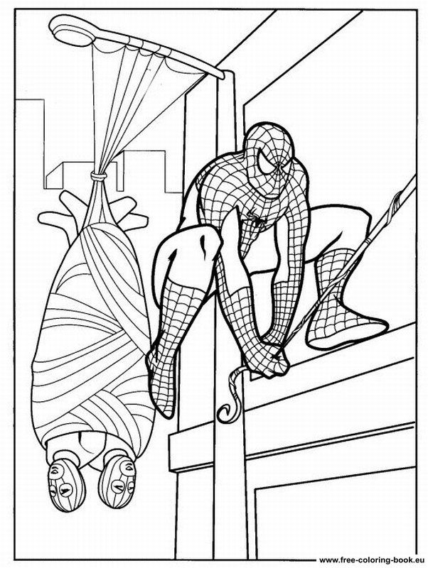 Black spiderman coloring pages games ~ Kids Page: - Black Spiderman 3 AlfaAlfa Coloring Pages