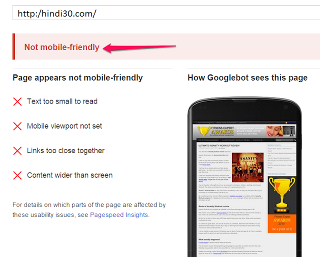 mobile friendly text for bounce rate