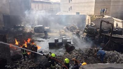 حريق مصنع البويات في الإسكندرية