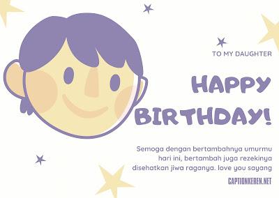 ucapan ulang tahun untuk anak perempuan