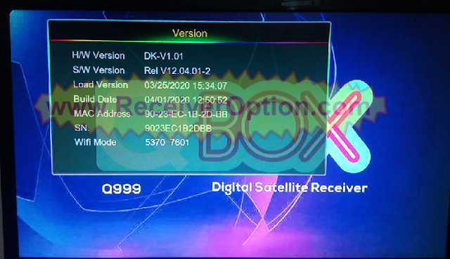 QBOX Q999 1507G 1G 8M NEW SOFTWARE WITH G-SHEARE-PLUS OPTION
