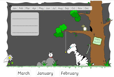 http://www.roythezebra.com/reading-games/high-frequency-words-months.html