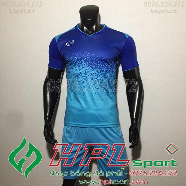 Áo bóng đá không logo Gransport KUN màu xanh ngọc
