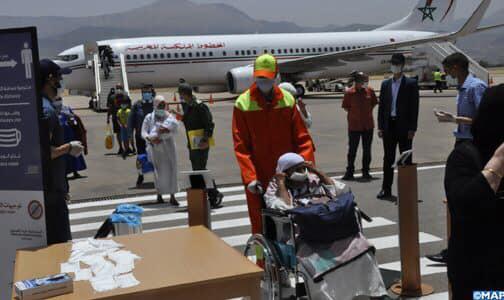 عودة 160 من المغاربة العالقين بإسبانيا إلى المغرب من ضمنهم 17 من الأطفال الرضع✍️👇👇👇