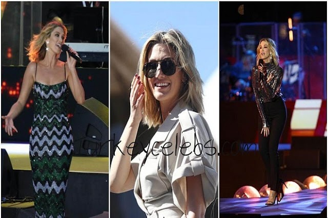The people waved at the Australia Day concert in Sydney, Delta Goodrem and Casey Donovan.