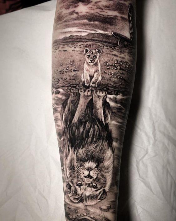 Tatuaje De Leones En El Brazo Chris7ian