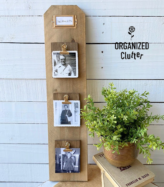 Photo of fence board/mini clipboard photo display