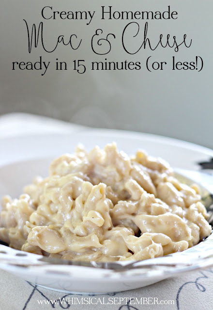 Panera Copycat Mac and Cheese Recipe: Ready in 15 minutes, this mac and cheese recipe will be the last one your family ever uses. I know from experience! It's easy, cheesy, and oh so delicious. Click for the simple ingredient list and cooking instructions.