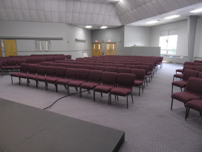 Life Church after painting 2 shades of gray.