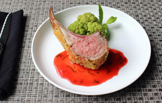 Roasted Rack of Lamb with Strawberry Mint Sauce