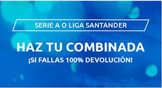 mondobets promo La Liga o la Serie A hasta 12-7-2020