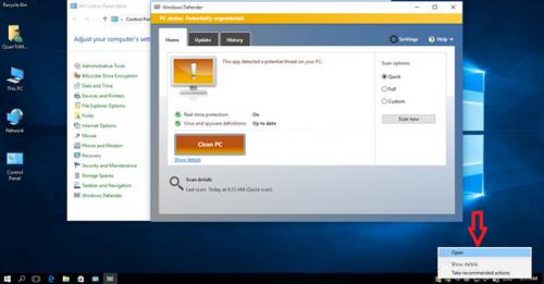 Vô hiệu hóa Windows Defender