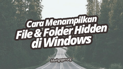 Menampilkan File dan Folder Hidden/Sembunyi di Windows