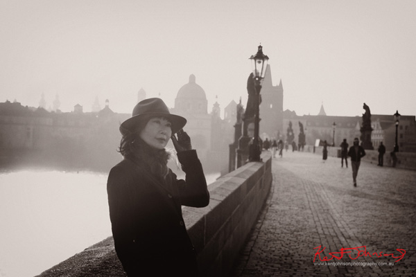 Vivienne, the Charles Bridge in Spring Prague by Travel and Lifestyle Photographer Kent Johnson.