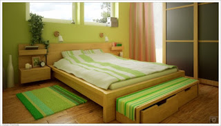 Contoh Warna Cat Kamar Tidur Sempit Lime Green