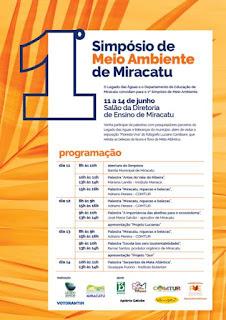Legado das Águas e Prefeitura de Miracatu realizam o 1º Simpósio de Meio Ambiente de Miracatu