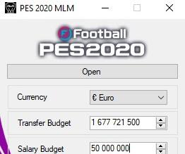 PES 2020 Master League Money Tool V1.1