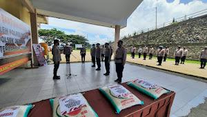 Bantu Warga Terdampak Covid-19, Setpres RI Salurkan Bantuan Beras 12.000 Kg ke Polres Boltim