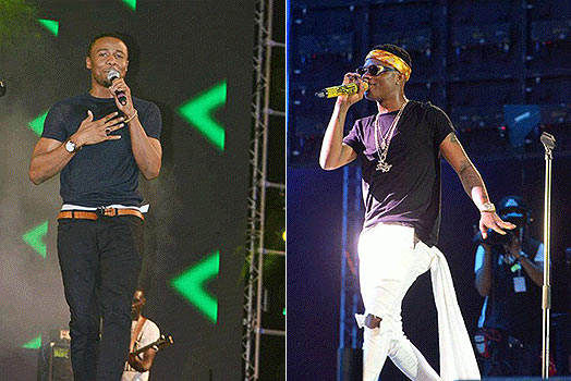 Wizkid and Tanzanian singer Ali Kiba fight at Chris Brown concert