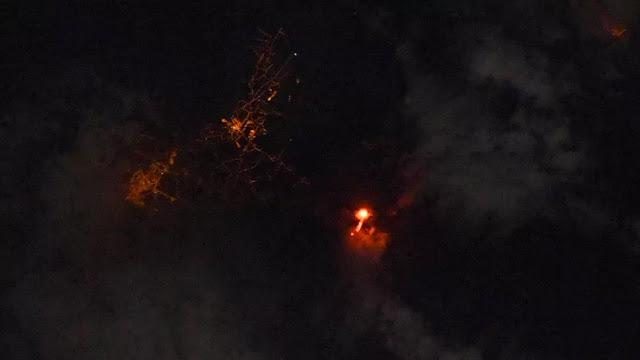 Vulcão Cumbre Vieja visto do espaço - Thomas Pesquet