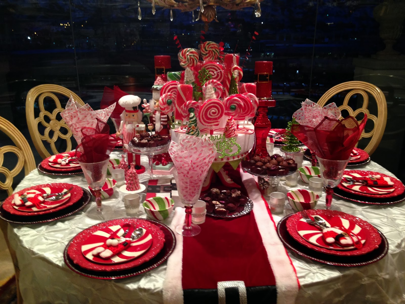 Candyland Chocolate Factory Christmas Party.Candy Land Christmas Morning Table Purple Chocolat Home