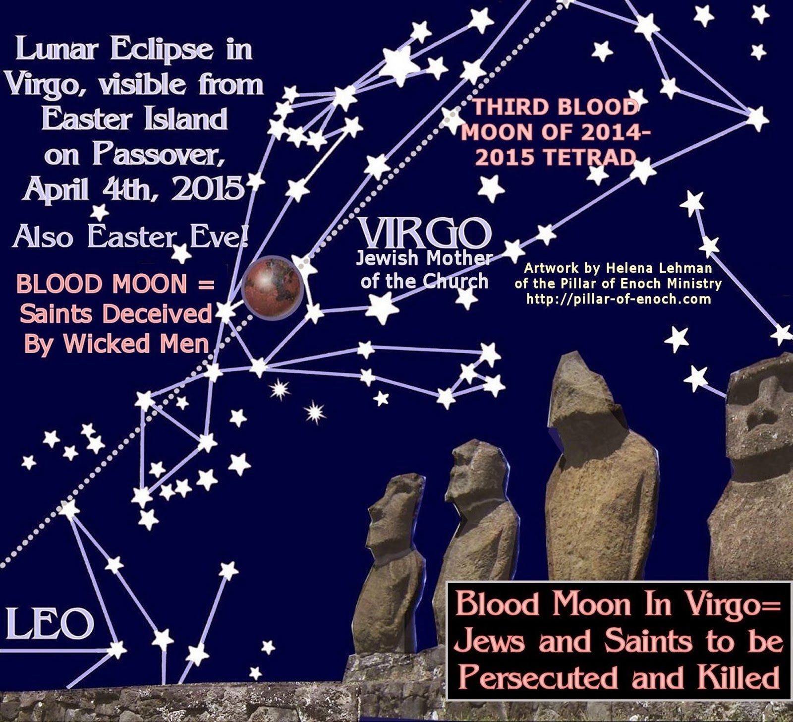 blood moon lunar eclipse virgo - photo #12