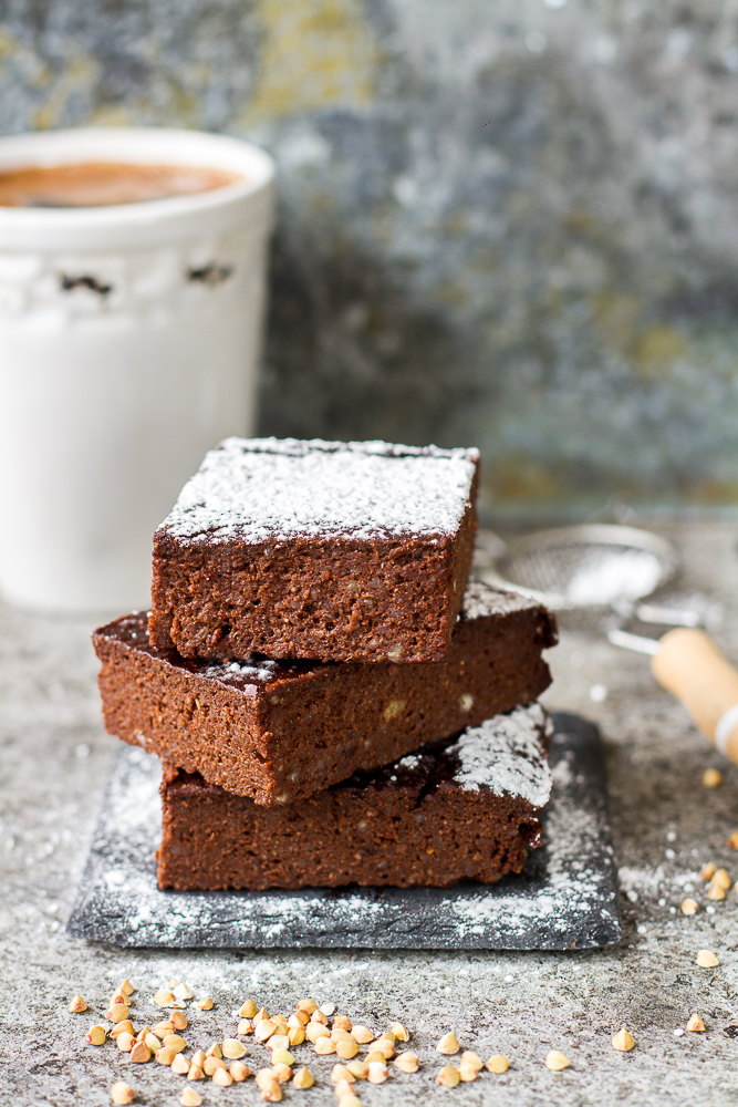 Gryczane brownie (bez glutenu i cukru rafinowanego)