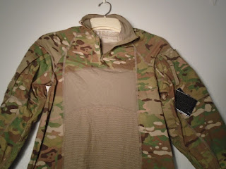 US ARMY COMBAT UNIFORM MULTICAM MASSIF ZIP UP FRONT SHIRT MEDIUM NEW RARE 5-D