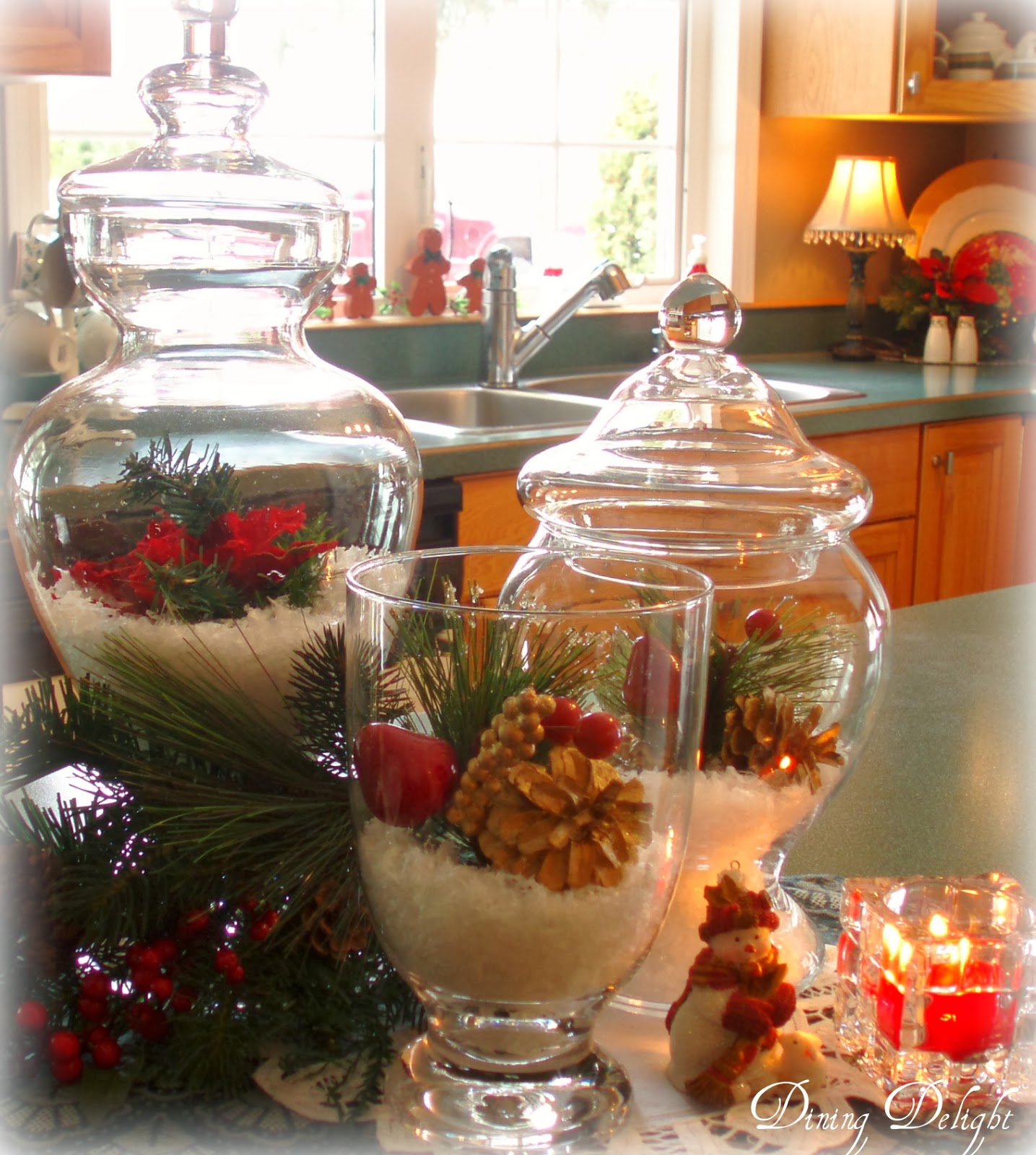 kitchen island centerpiece islands lowes dining delight christmas home tour 2013