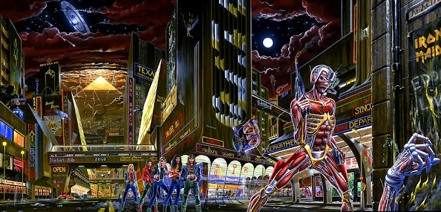 Somewhere In Time artwork του Derek Riggs, εξώφυλλο δίσκου των Iron Maiden