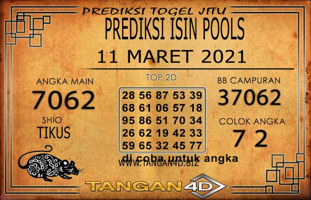 PREDIKSI TOGEL ISIN TANGAN4D 11 MARET 2021