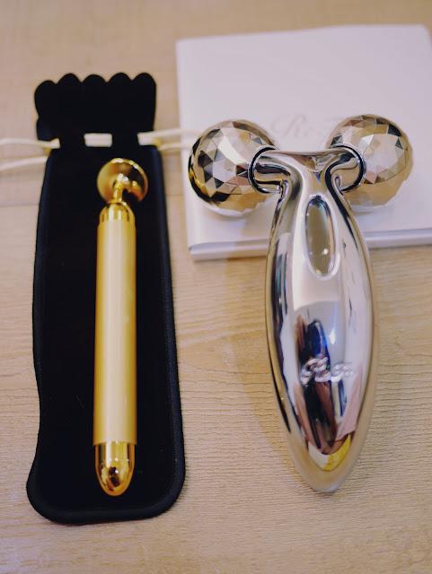 緊緻+瘦臉消水腫~最強小臉組合 -  Refa carat + beauty bar 24k金 黃金T字棒 | 台北新秘 | 抗老保養 | 按摩 | 新秘推薦 | 新娘秘書 | 妝前保養