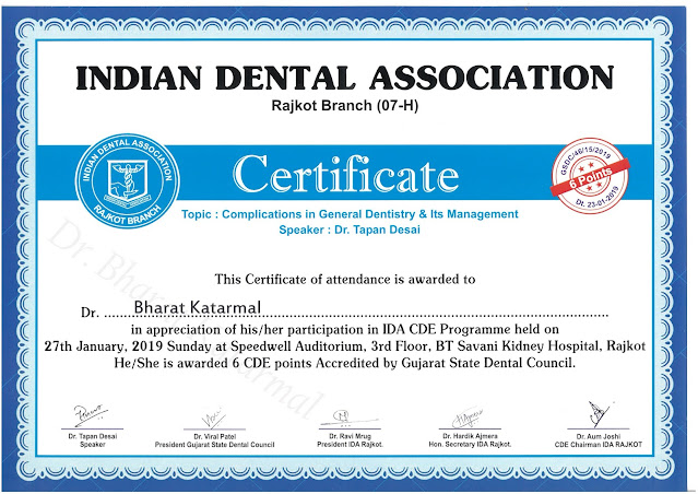Complications in General Dentistry and its Managaement by Dr Tapan Desai