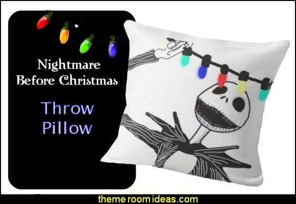 Nightmare before Christmas Throw Pillow Nightmare before Christmas decor