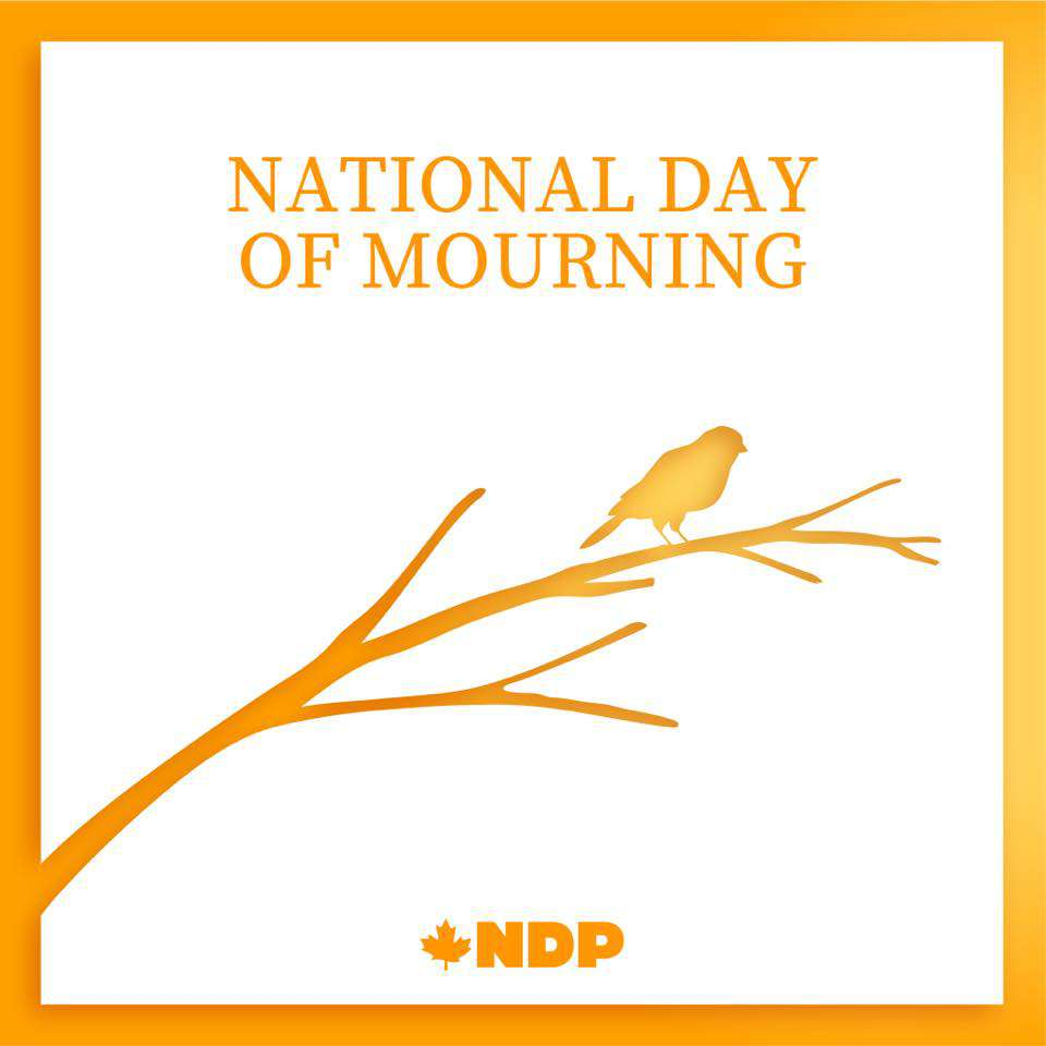 National Day of Mourning Wishes Beautiful Image