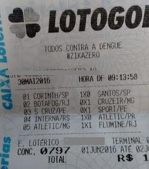 LOTOGOL 797 - QUINA DE LUIZ SILVA