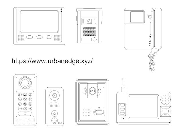 Door Bell Phone cad block free download - 5+ free cad blocks