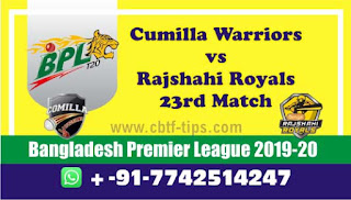Who will win Today BPL T20, 23rd Match Rajshahi vs Comilla - Cricfrog