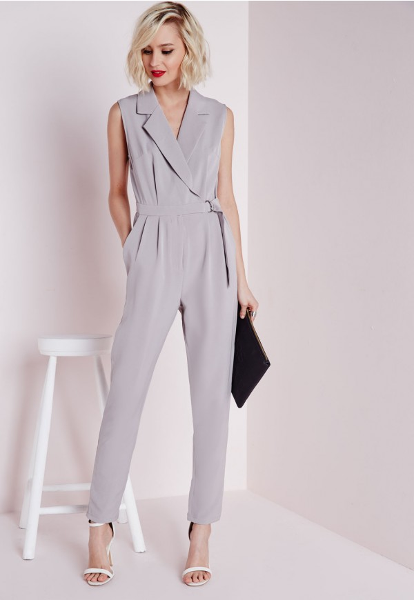 Combinaison grise sans manches avec ceinture Tall 49€/21.00€