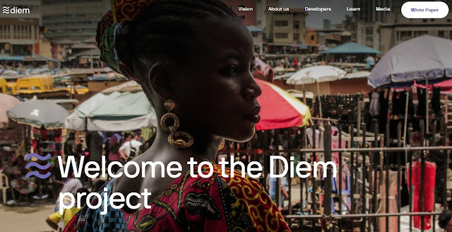 Screenshot Website Diem Cryptocurrency